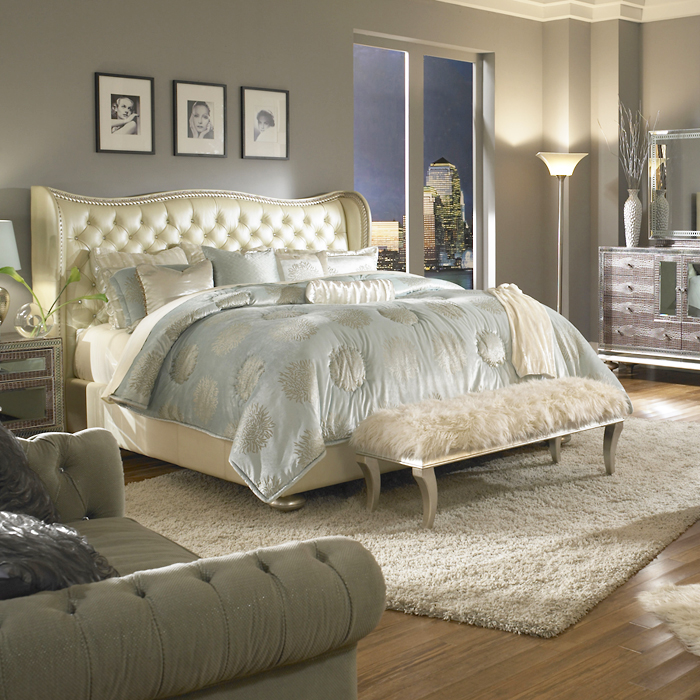 Harlington Luxury Bedding Set Michael Amini Bedding Collection by AICO  Michael Amini Bedding