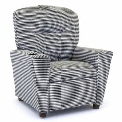 Kid Recliner Chair Chaise Arm Child S In Houndstooth Kids Recliners
