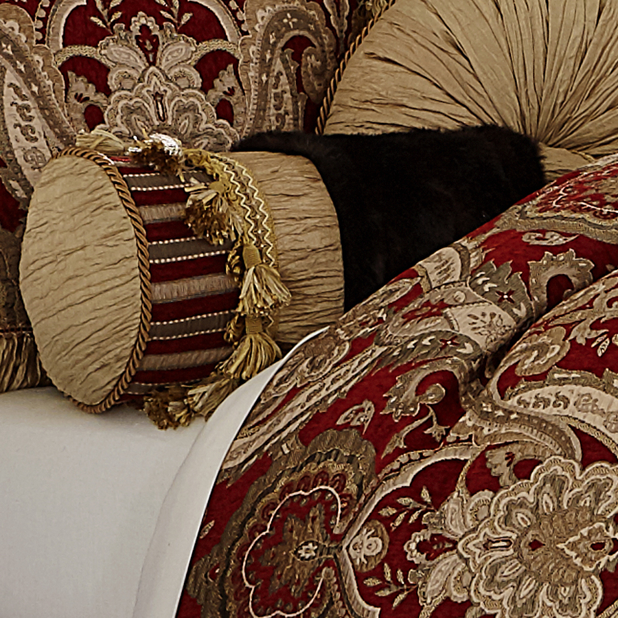 Michael Amini Lafayette Bedding King  Queen Luxury