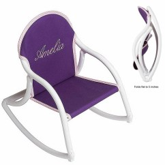 Foldable Rocking Chair Sure Fit Dining Slipcovers Kids Personalized Folding Rocker Childs That Folds Hoohobbers Chairs