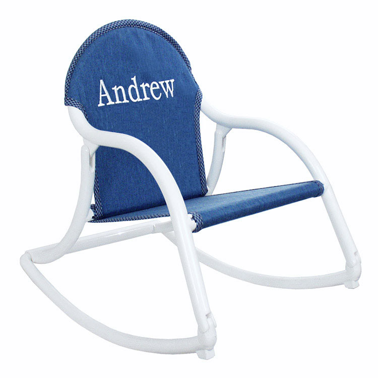 folding chair embroidered swing very kids personalized rocker, childs rocking that folds, hoohobbers - chairs