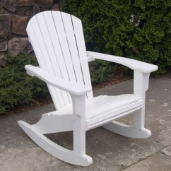 Plastic Adirondack Chair Chairs At Sears Polywood Seashell Rocking Chair, -