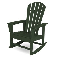 POLYWOOD South Beach Rocking Chair, Adirondack Rocking ...