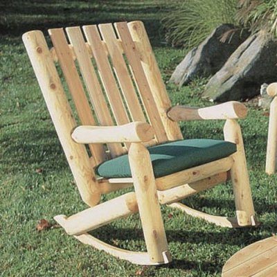 Rustic High Back Rocking Chair Rustic Porch Rockers and