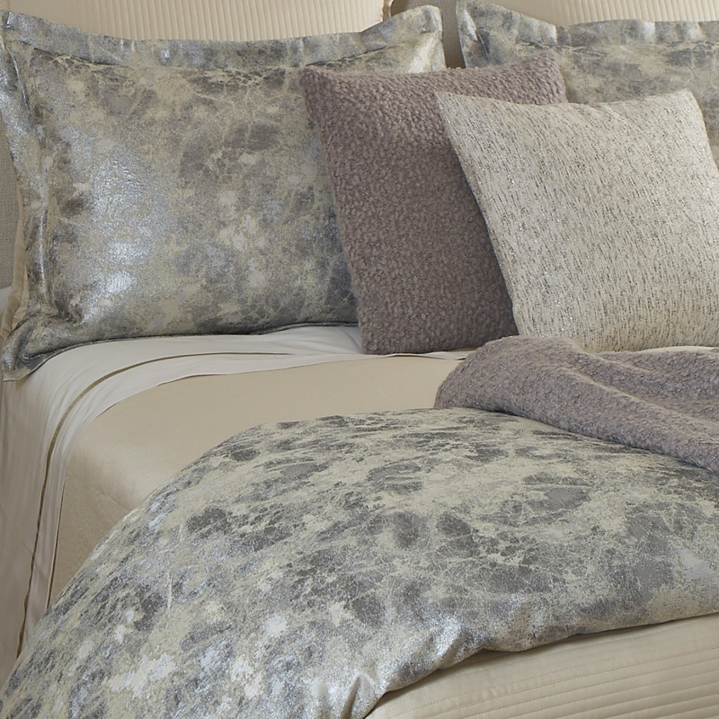 Terrazzo Duvet Set in Silver Ann Gish Art of Home Queen