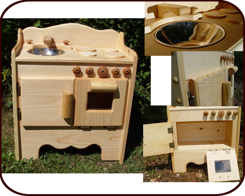 solid wood toy kitchen inside cabinet lighting waldorf play natural toys made usa
