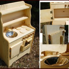 Solid Wood Toy Kitchen Oak Island Play Natural Willow Toys Usa Made Liam S Wooden
