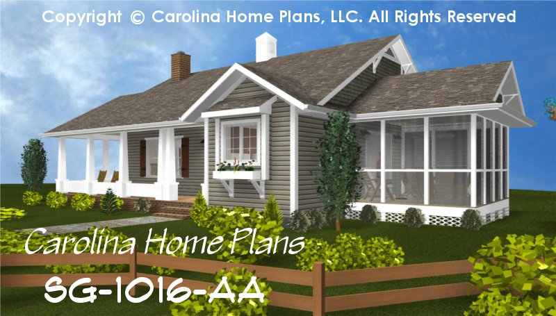 Small Cottage Style House Plan SG