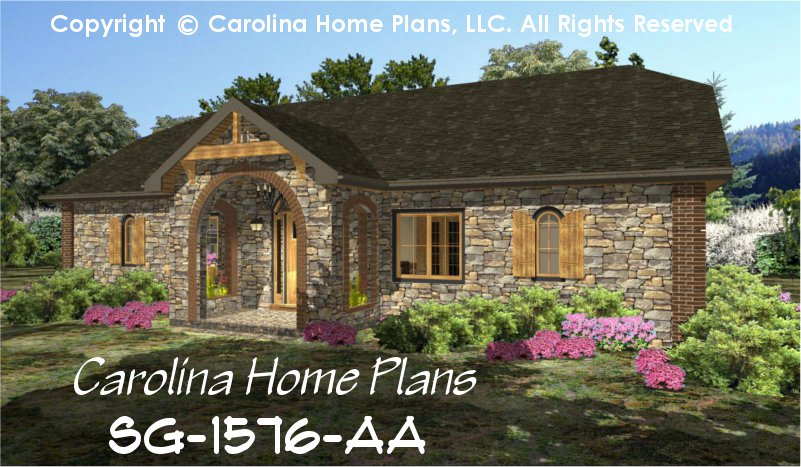 Small Stone Cottage House Plan CHPSG1576AA Sq Ft