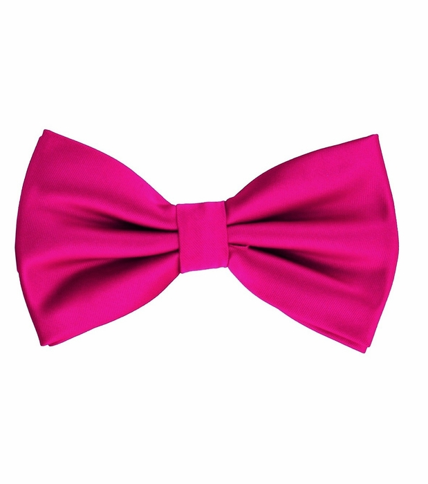 Hot Pink Bow Tie and Pocket Square Set (BT100
