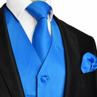 French Blue Tuxedo Vest and Accessories