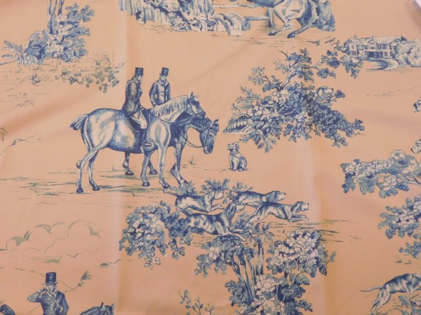 Vervain Elway Hall Toile Bd Hunting Horse Dog Cotton Print