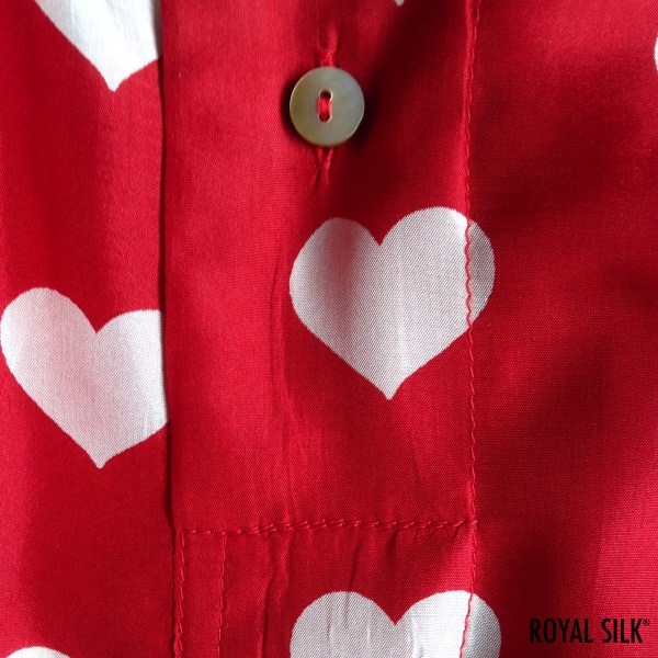 Red Silk Hearts Men' Boxers