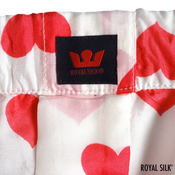 White Silk Hearts Men' Boxers