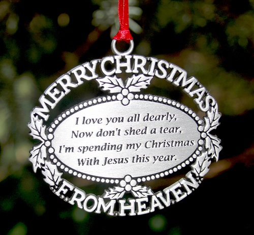 spending christmas in heaven ornament - Merry Christmas In Heaven