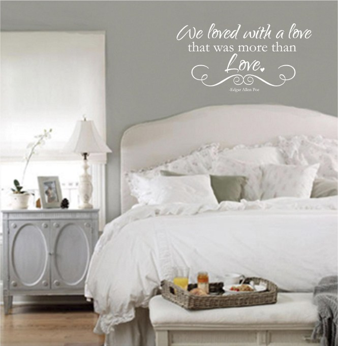 Bedroom Wall Quotes Vinyl Decals Love We Loved With A
