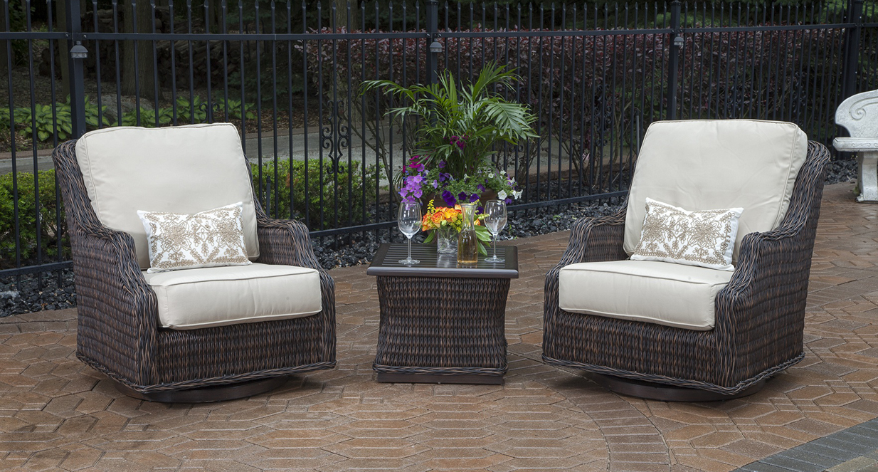 Wicker Patio Chair Mila Collection 2 Person All Weather Wicker Patio Furniture Chat