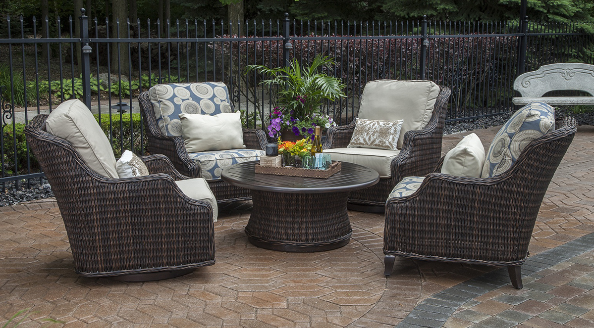 Wicker Patio Chair Mila Collection All Weather Wicker Patio Furniture Conversation Set