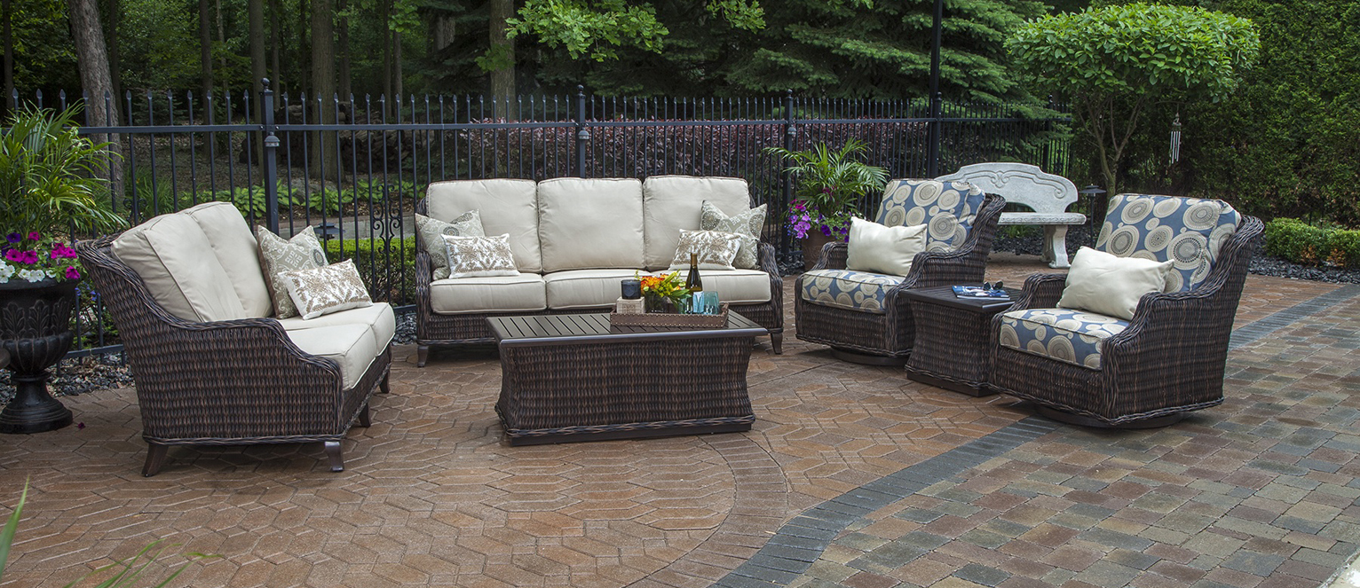 Mila Collection All Weather Wicker Patio Furniture Deep