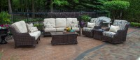 Mila Collection All Weather Wicker Patio Furniture Deep ...
