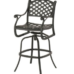 Bar Height Outdoor Chairs Red Chair Sashes Newport By Hanamint Luxury Cast Aluminum Patio Furniture Swivel