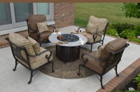 Amalia 4-Person Luxury Cast Aluminum Patio Furniture Chat ...