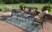 amalia 6-piece luxury cast aluminum