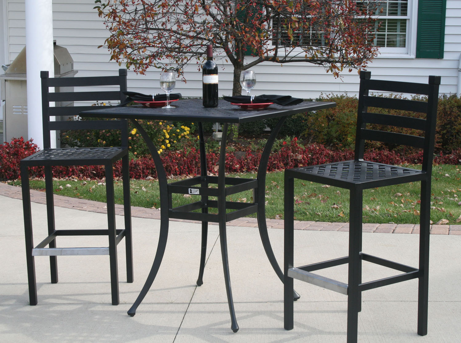 2 chairs and table patio set swivel chair littlewoods ansley luxury person all welded cast aluminum