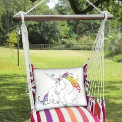 Hammock Chair Swings Baby Gym Cristina Stripe Unicorn Swing Set Only 159 99 At Click To Enlarge