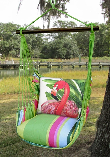 hammock chair swings office chairs chicago il fresh lime pink flamingo swing set only 159 99 at click to enlarge