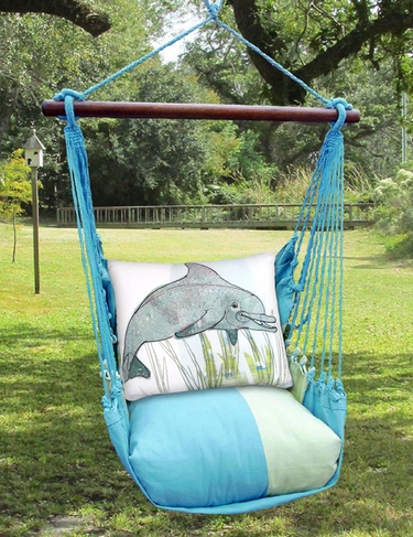 hammock chair swings covers for gliders meadow mist dolphin swing set only 159 99 at garden fun click to enlarge