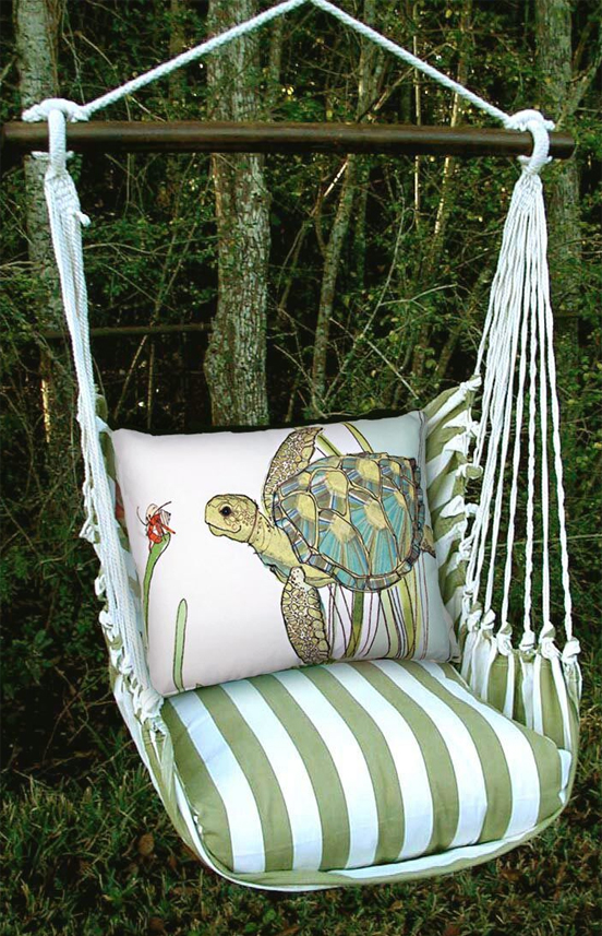 hammock chair swings coleman with table sea turtle swing hanging patio gardenfun unique garden gifts whimsical yard art 3500 items
