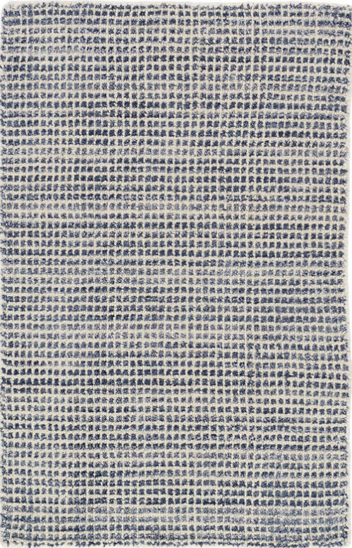 Dash and Albert Homer Blue Loom Knotted WoolViscose Rug