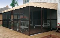 Patio-Mate Screened Enclosure - Chestnut / Almond Color