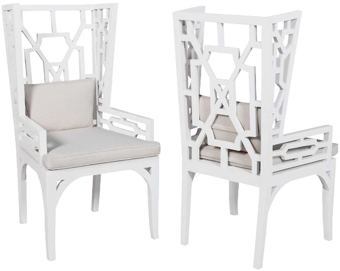 White Wing Chair Manor Wing Chair One Pair