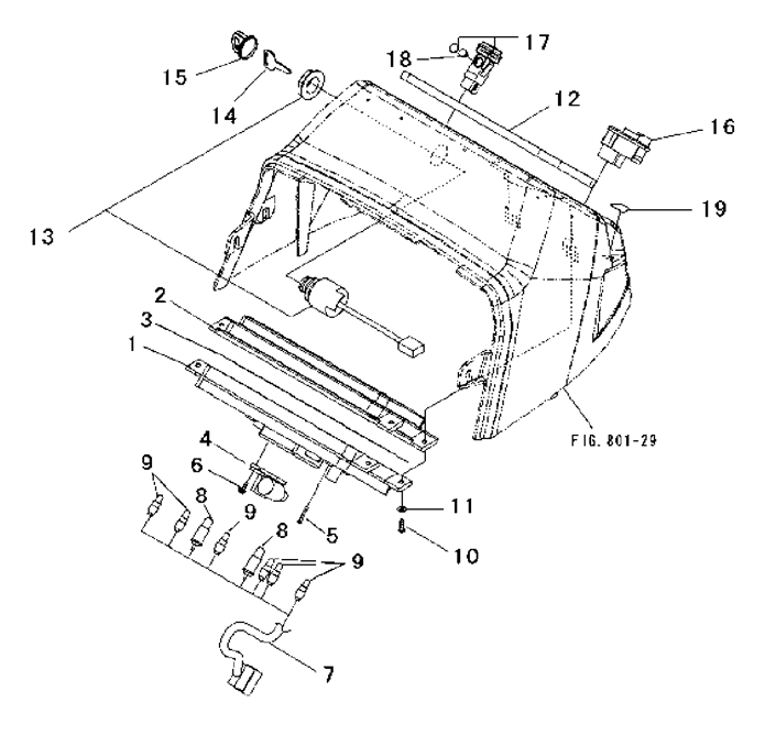 ELECTRICAL PARTS FOR 1815/1816 MAHINDRA TRACTOR