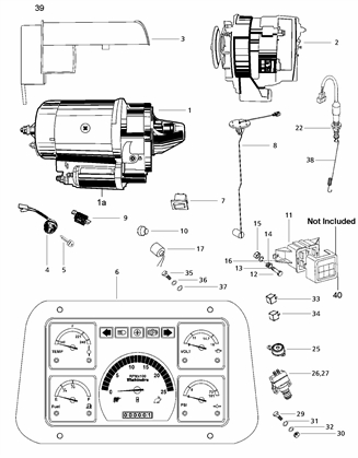 SWITCHES, DASH, KEYS & KNOBS FOR 4530 MAHINDRA TRACTOR