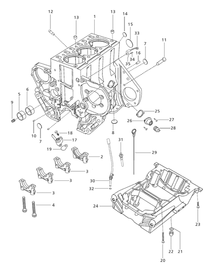 ENGINE PARTS FOR 5530 MAHINDRA TRACTOR