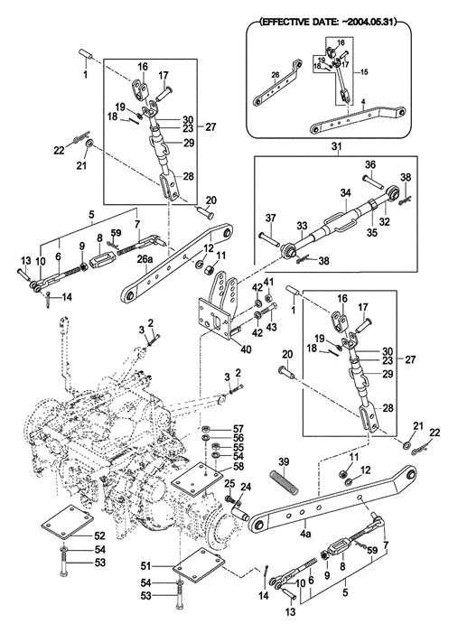 3-POINT LIFT PARTS FOR 2810 MAHINDRA TRACTOR