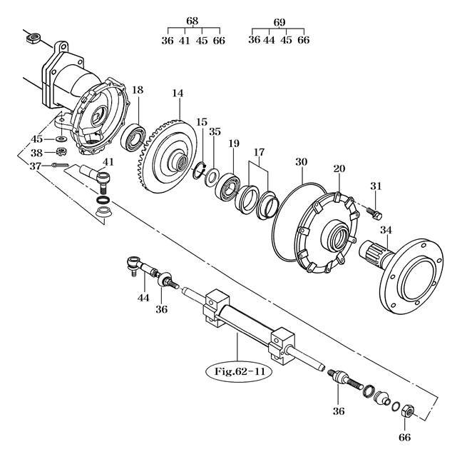 FRONT AXLE PARTS FOR 2310 MAHINDRA TRACTOR