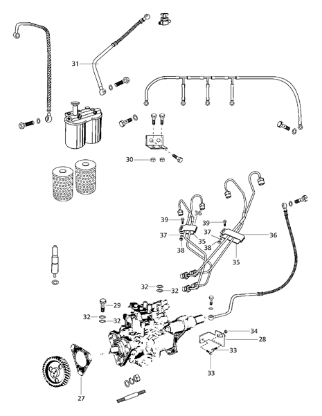 FUEL LINES FOR 5530 MAHINDRA TRACTOR