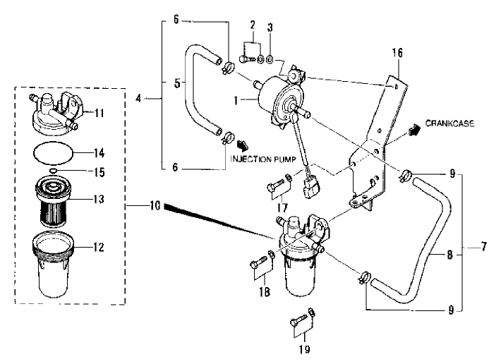 FUEL SYSTEM PARTS FOR 1815/1816 MAHINDRA TRACTOR