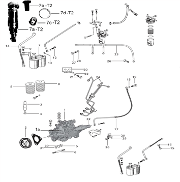 FUEL SYSTEM PARTS FOR 4530 MAHINDRA TRACTOR