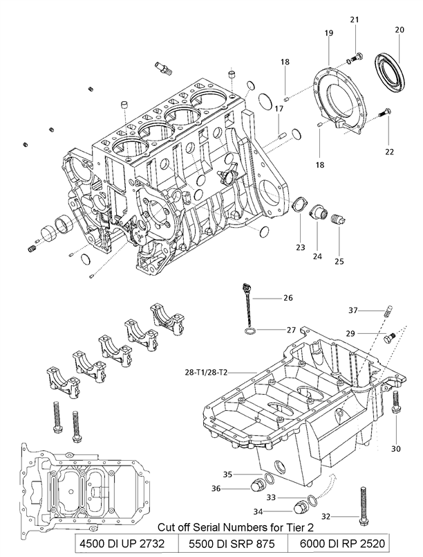 ENGINE PARTS FOR 5500 MAHINDRA TRACTOR