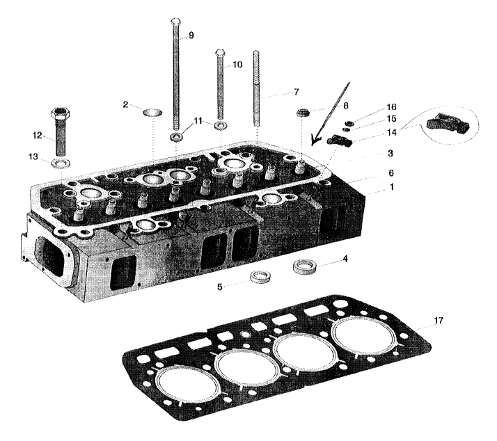 ENGINE PARTS FOR 575 MAHINDRA TRACTOR