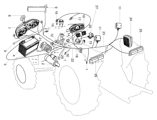 ELECTRICAL PARTS FOR 2525/ES-25 MAHINDRA TRACTOR