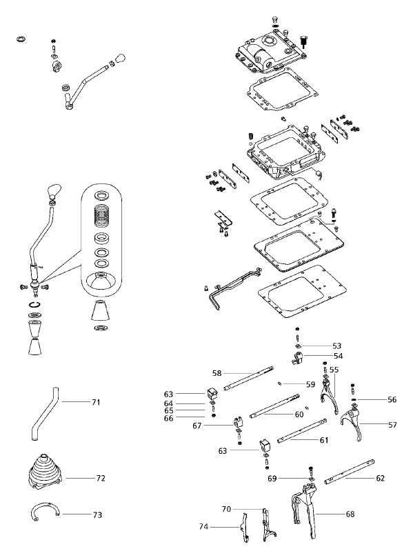 TRANSMISSION PARTS FOR 4500 MAHINDRA TRACTOR