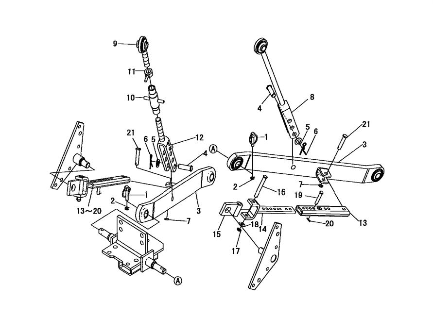 3-POINT LIFT PARTS FOR 3016 MAHINDRA TRACTOR
