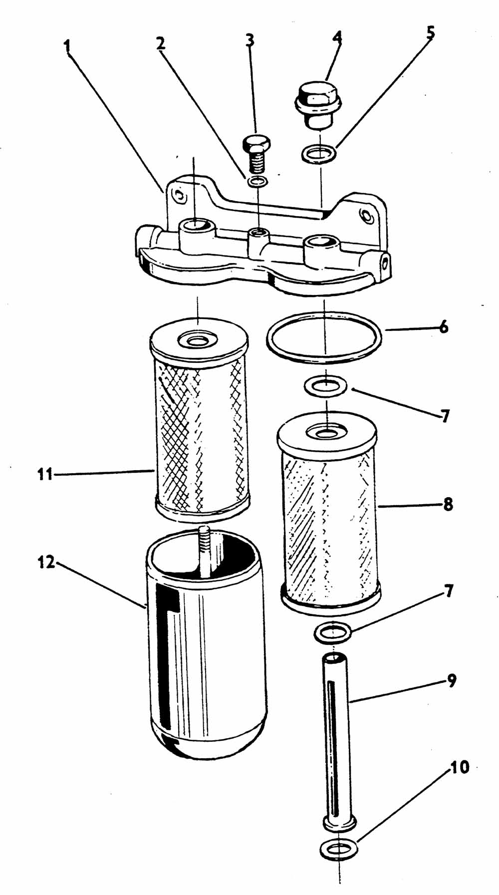 hight resolution of small gasket seal for fuel filter on two stage 5211 5245 5213 6211