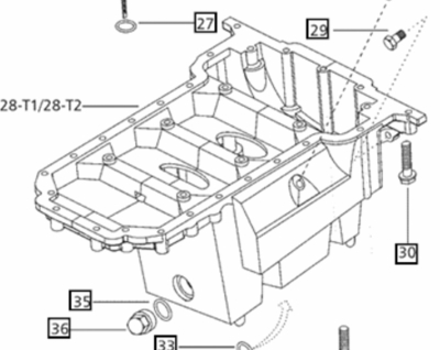 OIL PAN FOR 4 CYLINDER 5500 MAHINDRA TRACTOR